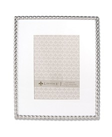 """710080 Silver Metal Rope 8x10 Matted For Picture Frame - 5"""" x 7"""""""