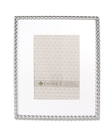 "Lawrence Frames 710080 Silver Metal Rope 8x10 Matted For Picture Frame - 5"" x 7"""