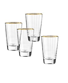 Dominion Gold Highball Glasses, Set Of 4