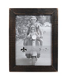 "Charlotte Weathered Black Wood Picture Frame - 5"" x 7"""
