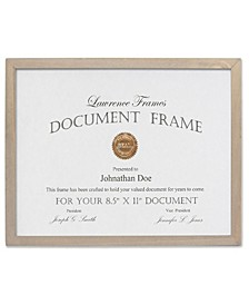 "Gray Wood Certificate Picture Frame - Gallery Collection - 8.5"" x 11"""