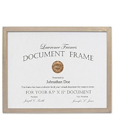 """Lawrence Frames Gray Wood Certificate Picture Frame - Gallery Collection - 8.5"""" x 11"""""""