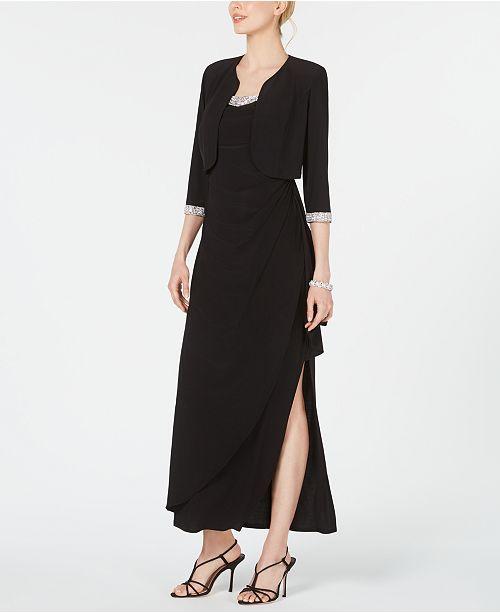 R & M Richards Petite Embellished Gown & Jacket