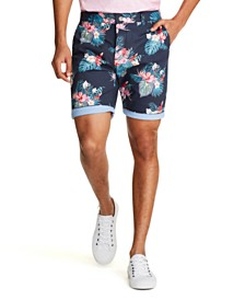 Tallia Men's Modern-Fit Stretch Hawaiian Floral Shorts