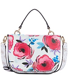 GUESS Logo Rock Floral Mini Crossbody