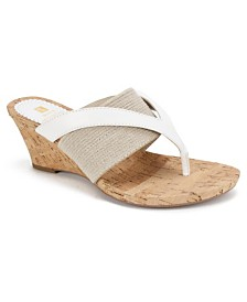 b7f396cb2 White Mountain Alanna Wedge Sandals