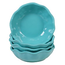 Certified International Perlette Teal Melamine 4-Pc. All Purpose Bowl Set