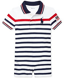 Polo Ralph Lauren Baby Boys Striped Cotton Polo Shortall