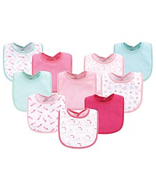 Luvable Friends Drooler Bibs, 10 Pack, One Size