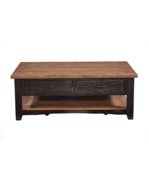 Martin Svensson Home Rustic Collection Coffee Table, Antique Black And Honey Tobacco