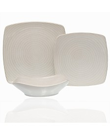 Red Vanilla White Rice 18-piece Dinner Set
