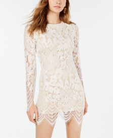 Material Girl Juniors' Lace Bodycon Dress, Created for Macy's