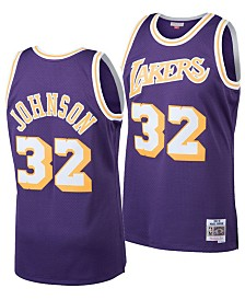 Mitchell & Ness Big Boys Magic Johnson Los Angeles Lakers Hardwood Classic Swingman Jersey