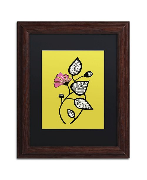 """Trademark Global Sylvie Demers 'Tanto Tiempo' Matted Framed Art - 14"""" x 11"""" x 0.5"""""""
