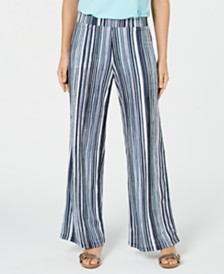 JM Collection Printed Soft Pants, Created for Macy's
