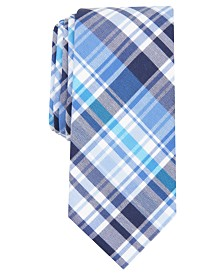 Bar III Men's Owens Plaid Skinny Tie, Created for Macy's