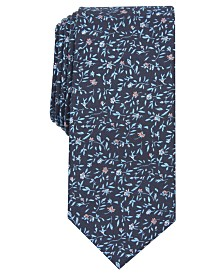 Bar III Men's Eddison Floral Skinny Tie, Created for Macy's