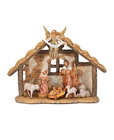 7 Piece Nativity Set with 9 Inch Stable