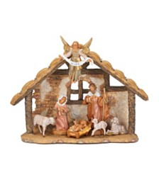 Roman Fontanini 7 Piece Nativity Set with 9 Inch Stable