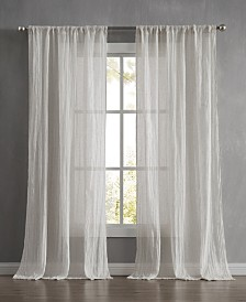 "French Connection Charter Crushed 100"" x 96"" Rod Pocket Window Curtain Pairs"