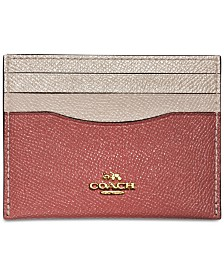 COACH Flat Colorblock Card Case