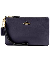 0fb58e7e965d COACH Small Wristlet in Polished Pebble Leather