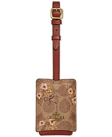 COACH Signature Luggage Tag