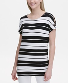 Calvin Klein Striped Tunic Top