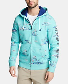 Nautica Men's Blue Sail Logo Graphic Hoodie, Created for Macy's