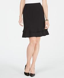 Kasper Petite Ruffle-Hem Skirt