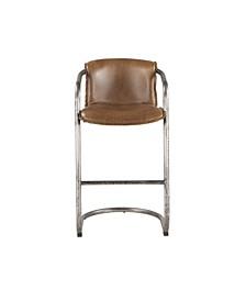 Chiavari Distressed Leather Bar Chairs, Set of 2