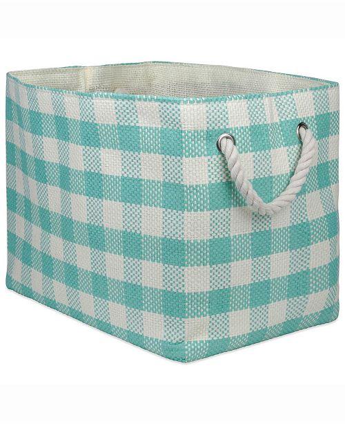 Design Import Paper Bin Checkers, Rectangle
