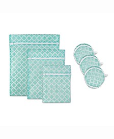Design Import Lattice Set C Mesh Laundry Bag, Set of 6