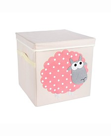 Design Import Kid Cube Sheep, Square with Lid