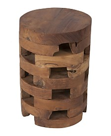 East At Main's Hison Teak Accent Table