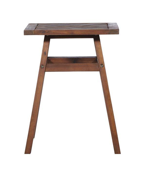Walker Edison Patio Wood Side Table
