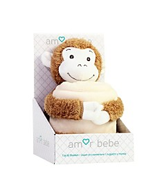 Toddler Plush Monkey with Blanket
