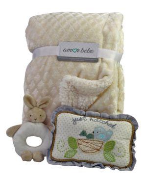 Image of 3 Piece Plush Blanket Baby Gift Set