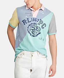 Polo Ralph Lauren Men's Classic Fit Mesh Graphic Polo