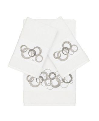 Turkish Cotton Annabelle 3-Pc. Embellished Towel Set