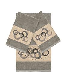Linum Home Turkish Cotton Annabelle 3-Pc. Embellished Towel Set