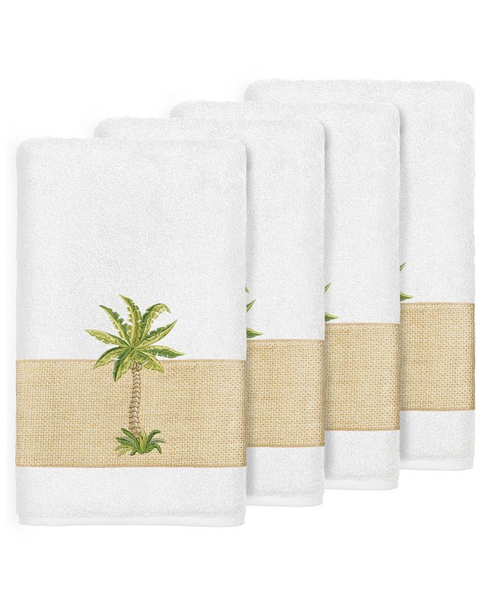 Linum Home - Turkish Cotton Colton 4-Pc. Embellished Bath Towel Set