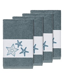 Turkish Cotton Lydia 4-Pc. Embellished Hand Towel Set