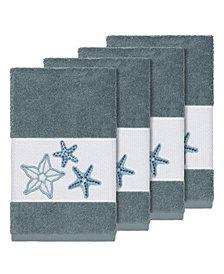 Linum Home Turkish Cotton Lydia 4-Pc. Embellished Hand Towel Set