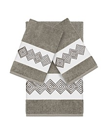 Turkish Cotton Noah 3-Pc. Embellished Towel Set