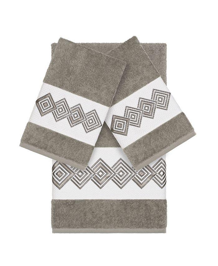 Linum Home - Turkish Cotton Noah 3-Pc. Embellished Towel Set