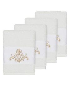 Turkish Cotton Scarlet 4-Pc. Embellished Washcloth Set