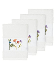 Turkish Cotton Serenity 4-Pc. Embellished Washcloth Set