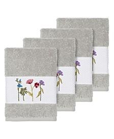 Turkish Cotton Serenity 4-Pc. Embellished Washcloth Set