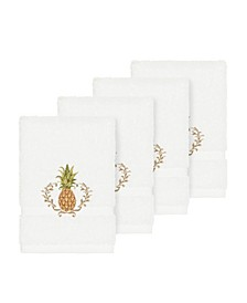 Turkish Cotton Welcome 4-Pc. Embellished Washcloth Set
